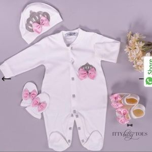 Itty Bitty Toes CROWN JEWELS SET (PINK)
